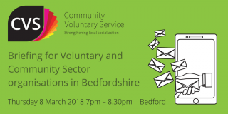 briefing on GDPR for Voluntary Community Sector organisations in Bedfordshire